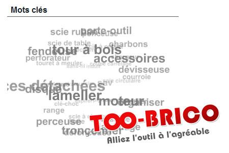 Nuage de tags sur Too-Brico