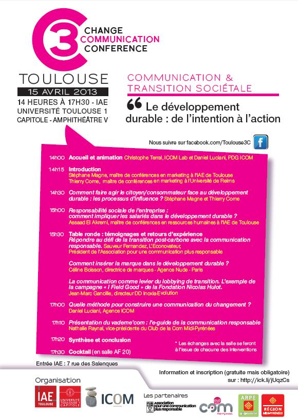 Affiche Change Conférence Communication