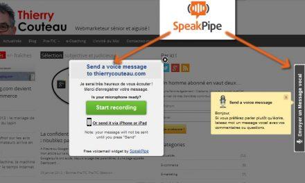 SpeakPipe, un répondeur vocal pour votre site