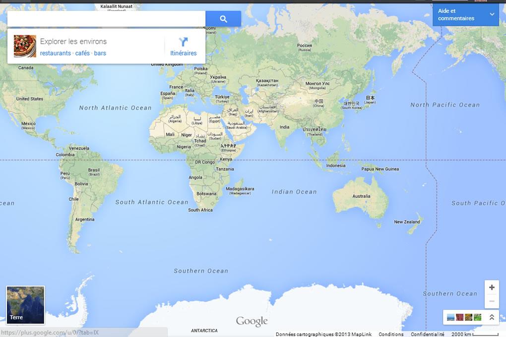 Nouvelle version de Google Maps