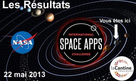 Space App's Challenge 2013, les résultats
