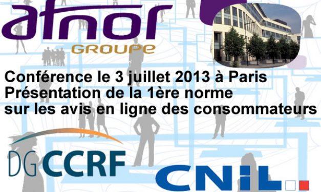 L'Afnor publiera sa norme sur les avis en ligne de consommateurs le 5 juillet 2013