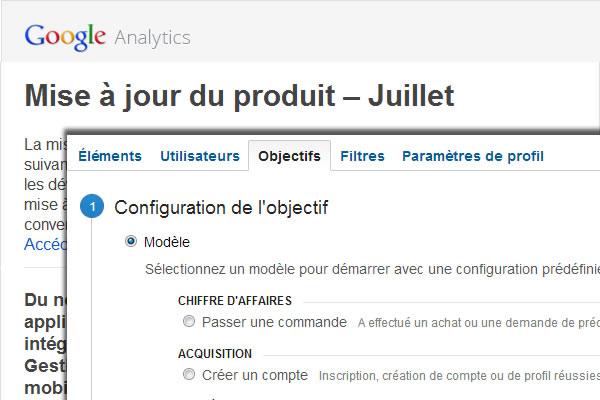 Du nouveau dans Google Analytics en juillet 2013