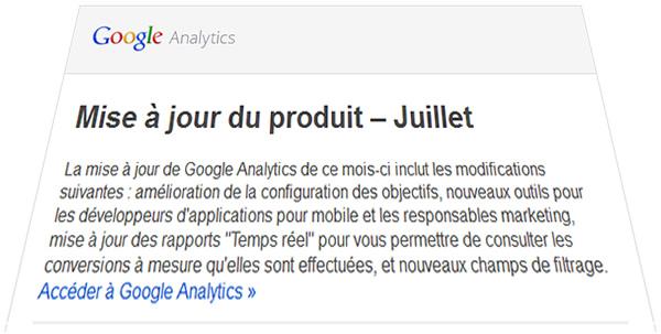 Juillet 20113 - les annonces de Google Analytics