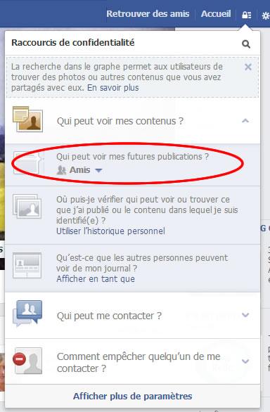 Les paramètres de confidentialité de Facebook