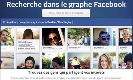 Recherche dans le Graphe Facebook arrive en France