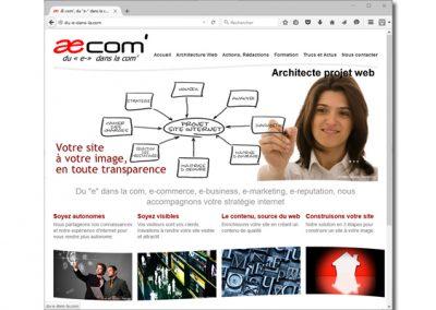 Æ COM', site vitrine