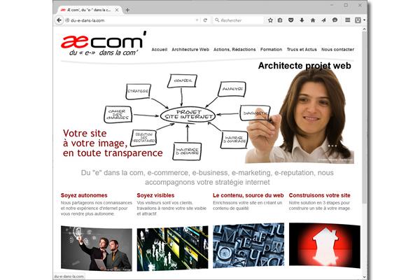 Réalisation site Æ COM