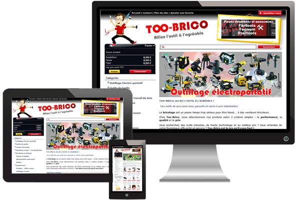 Réalisation site too-brico.com